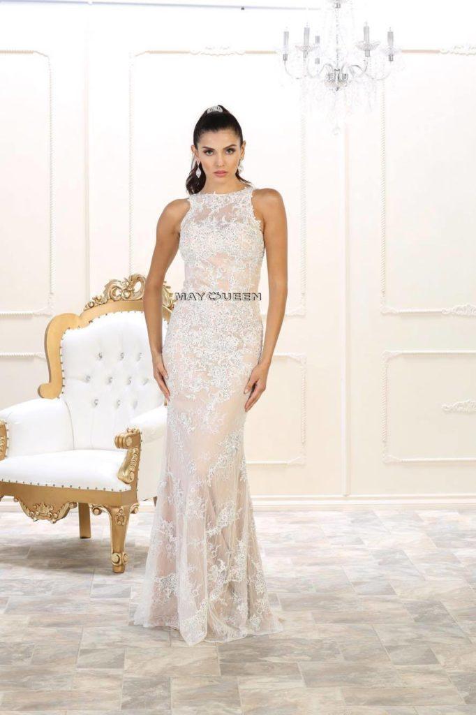 Creme farvet MayQueen kjole