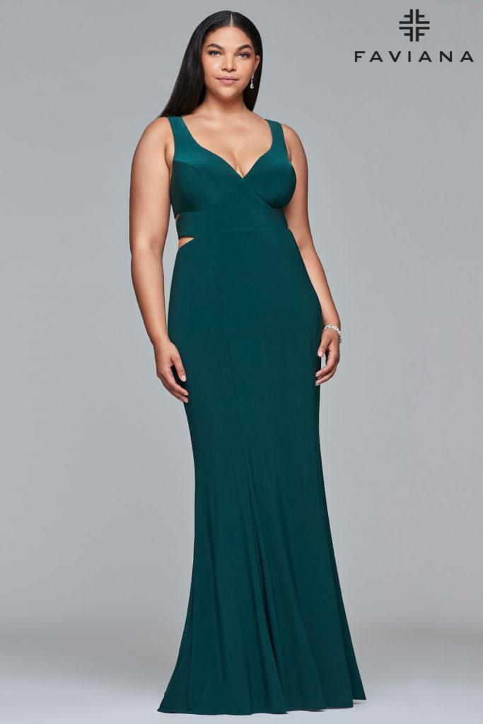 plus size grøn kjole