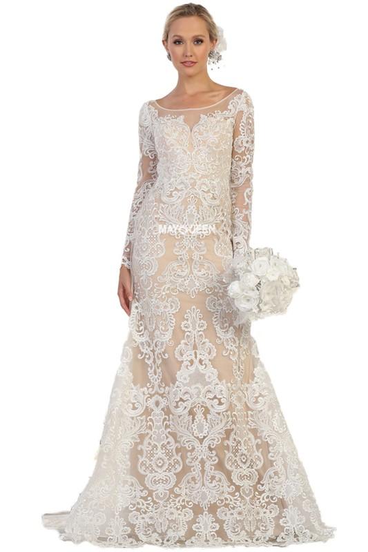 c74033ea Denne her er super sød, masser af smukke blonder og så har denne brudekjole  ærmer, det er noget rigtig mange gerne vil have lige nu. Prisen er 2599,-