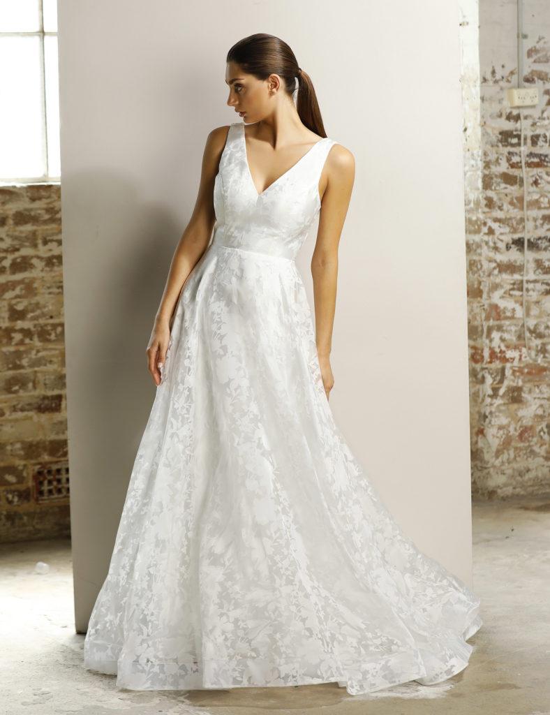 Hvid billig brudekjole fra Jadore