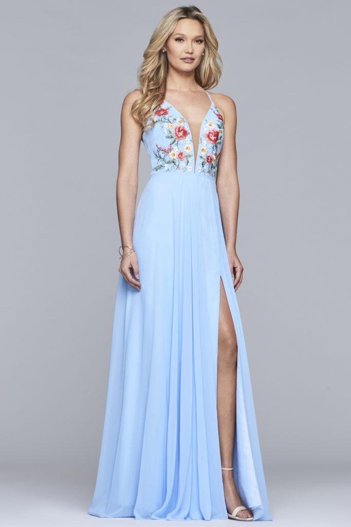 Faviana lysblå kjole