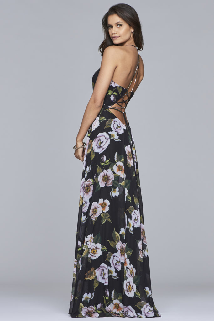 Faviana blomster printet kjole