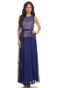 kongeblå kjole til brudgommens mor