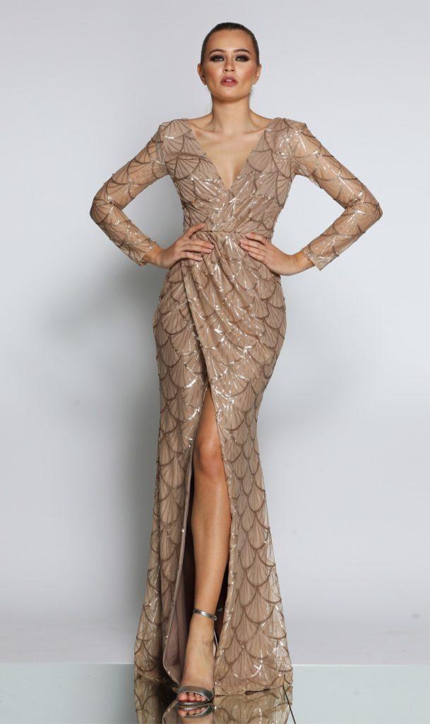 Jadore kjole med lange ærmer